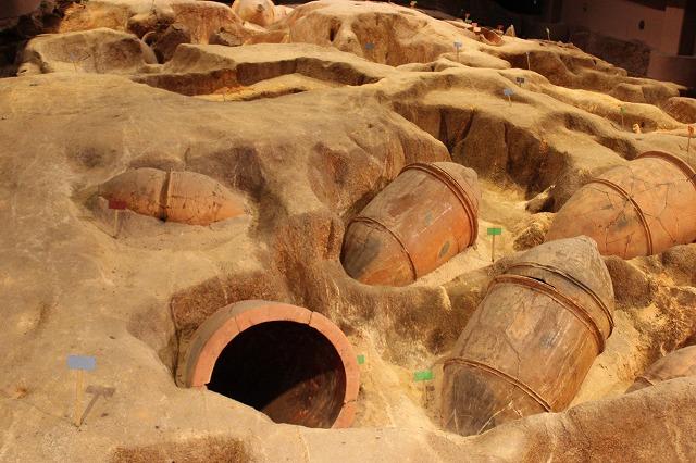 金隈遺跡の甕棺墓