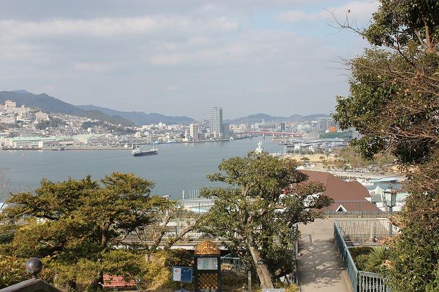 グラバー園から見た長崎市街の風景